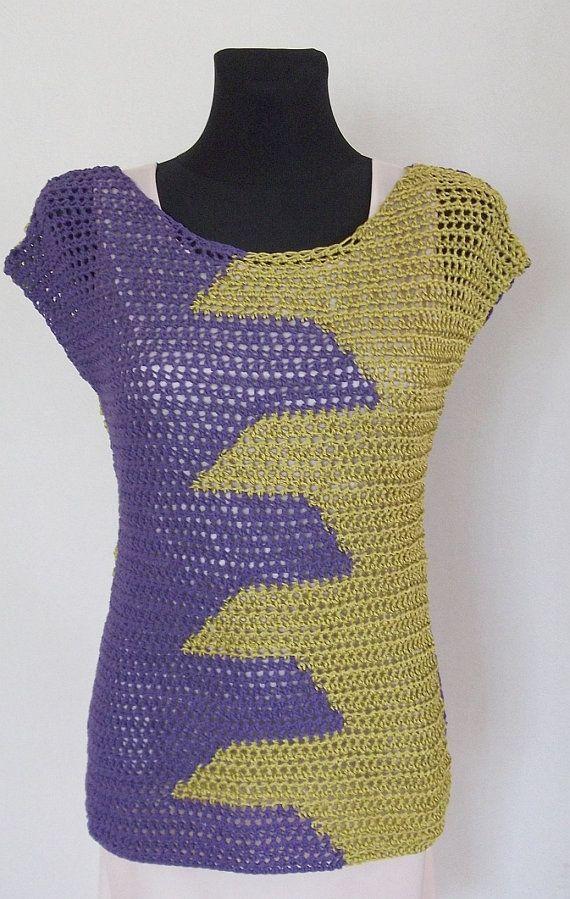 Crochet Pattern PDF Neon Top sizes XS to XL door ElevenHandmade