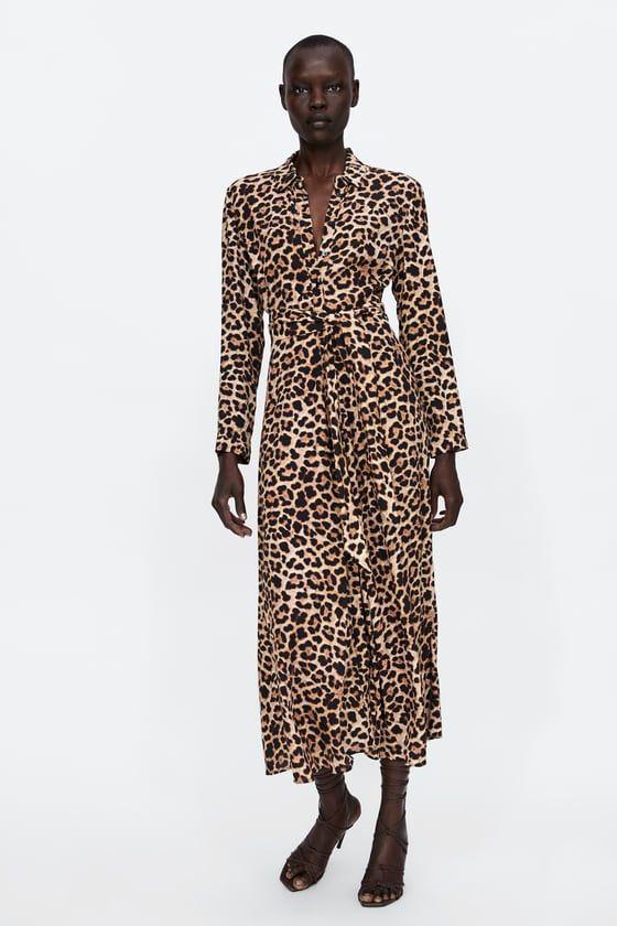 1af554e779 ZARA - WOMAN - LONG ANIMAL PRINT DRESS