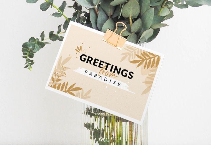 Mes cartes postales à imprimer - Free printable postcard in 2020