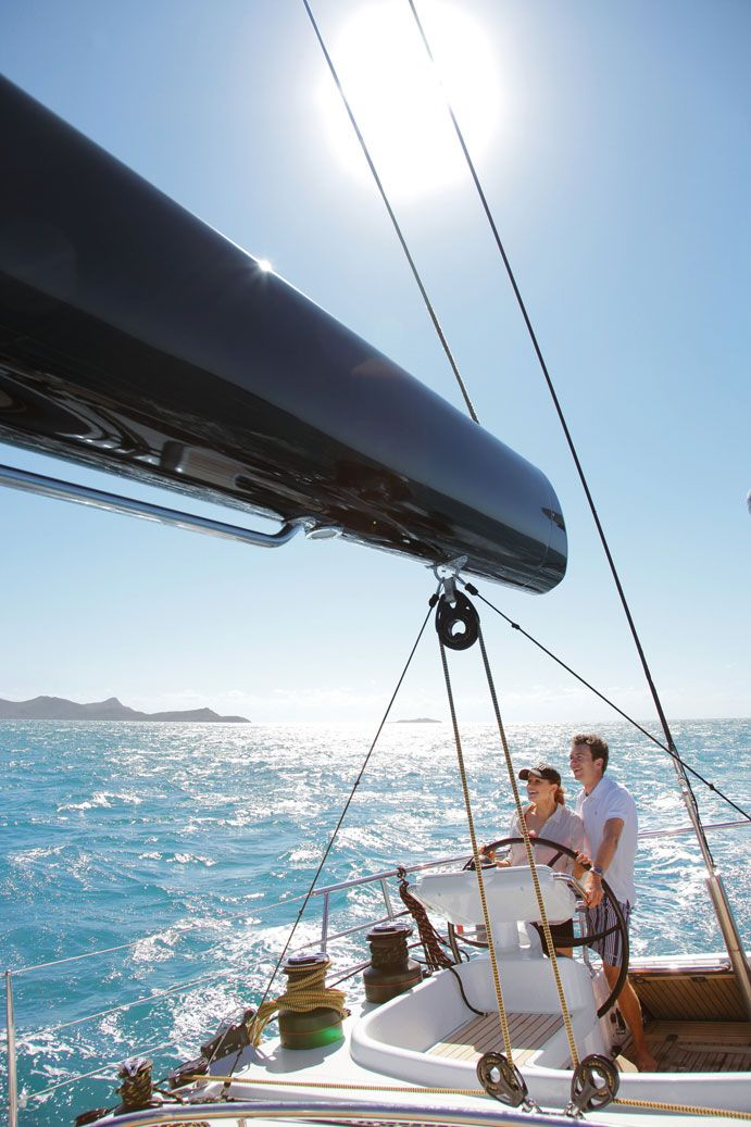 Sailing The Whitsunday Islands, Queensland, Australia