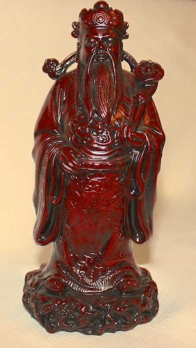 """Luk the Feng Shui God of financial security and authority.  He is one of the """"Three Immortals""""  # O-1185         $29.95"""