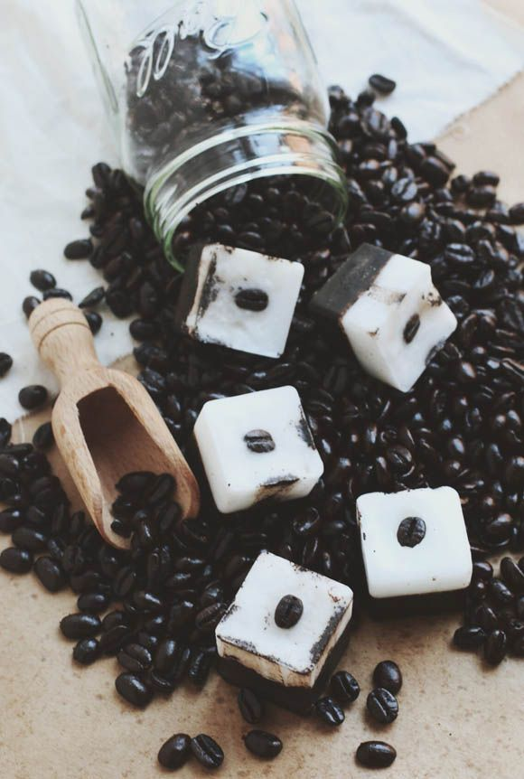 DIY Exfoliating Coffee Coconut Bars for Face & Body | Free People Blog #freepeople