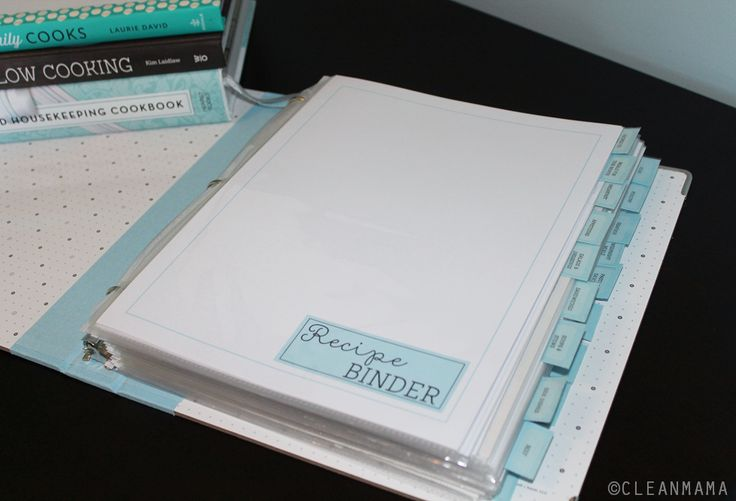 Make meal planning and recipe organization a snap with a functional recipe binder.