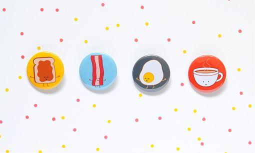 breakfest button set by queeniescards.com