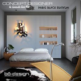 luminaire design PARIS concept designer avec ombre portée au mur - applique murale décorative et lumineuse
