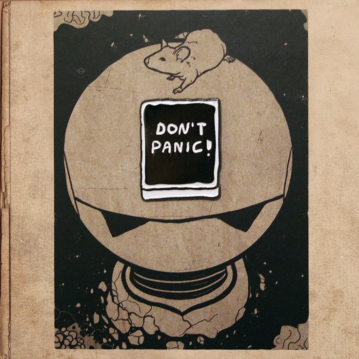 "Don't Panic! Hitchhikers Guide 1.2"" Soft Enamel Pin"