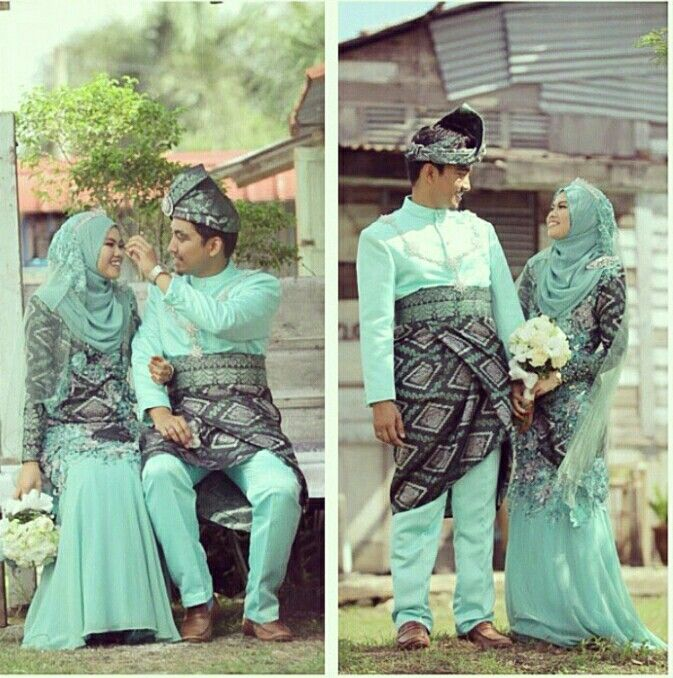 Mint Black Songket