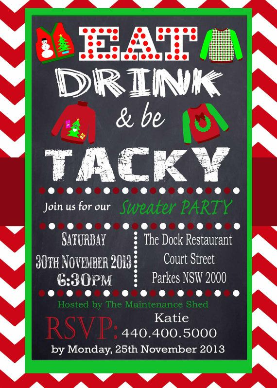 Downloadable Christmas Party Invitations Templates Free Interesting 10 Best Ugly Christmas Sweater Party Images On Pinterest  La La La .