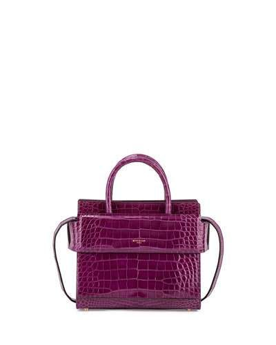GIVENCHY Horizon Mini Alligator Satchel Bag, Light Purple. #givenchy #bags #shoulder bags #hand bags #satchel #