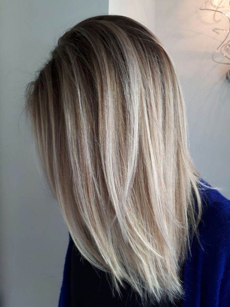 Beautiful blended blonde root smudgegreat for summer!  foilayage or balayage