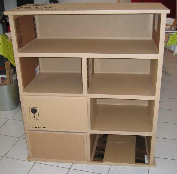 Furniture trainees meubles en carton et objets - Meuble en papier mache ...
