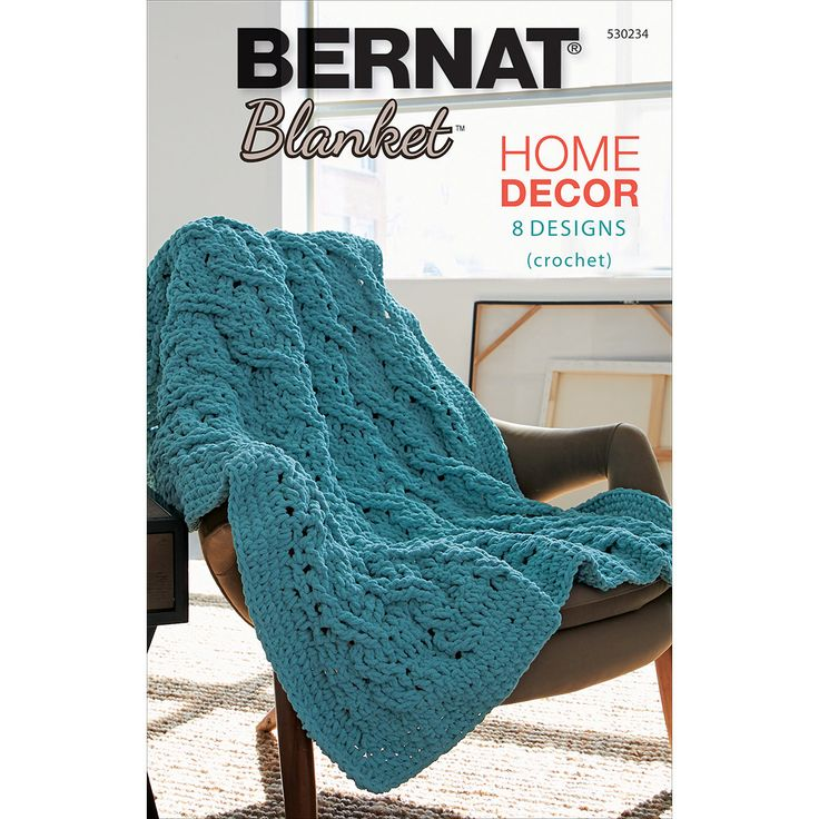 Bernat Blanket Yarn Home Decor Book 8 Crochet Patterns