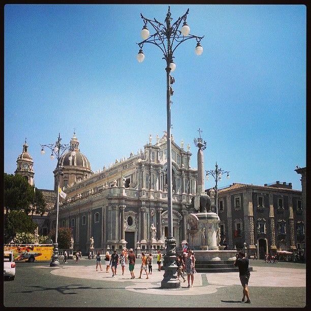 Duomo di Catania - foto spettacolare di agosto 2013