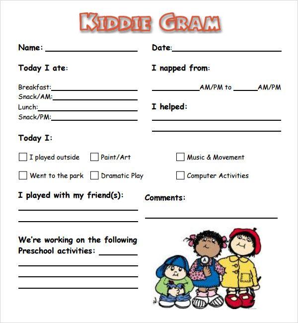 babysitting paperwork