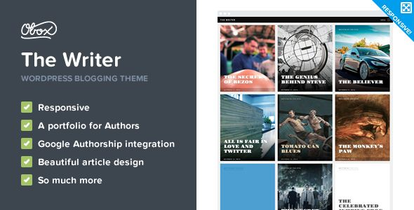 The Writer - Premium WordPress Blogging Theme  #themeforest