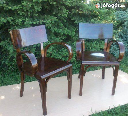 Gyönyörű Art Deco karfás székek párban