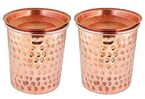Indian Copper Tumbler Hammered Glasses