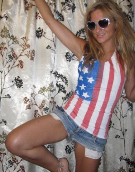 fitted American flag tie back tank top by MissippyGypsy on Etsy, $30.00