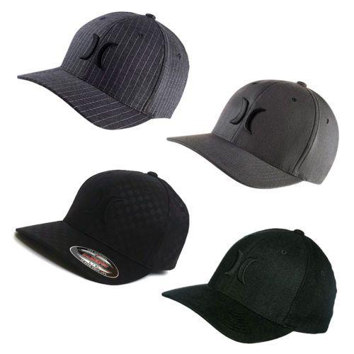 HURLEY-Black-Suits-Flexfit-hat-cap-beanie-snapback-surf-flex-fit-ALL-SIZES