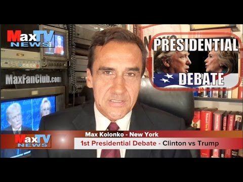 Clinton vs Trump Debate - Wybory w USA debata #1- Max Kolonko Mówi Jak Jest