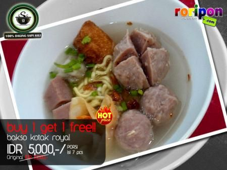 Buy 1 Get 1 Free!! Get 1 Portion Free Of Meatball Every Purchase 1 Meatball Set Only Idr 5,000,- At www.roripon.com