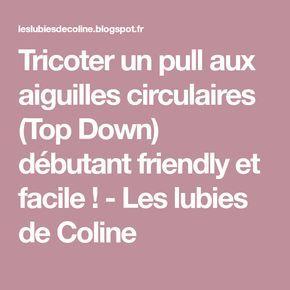 Tricoter un pull aux aiguilles circulaires (Top Down) débutant friendly et facile ! - Les lubies de Coline