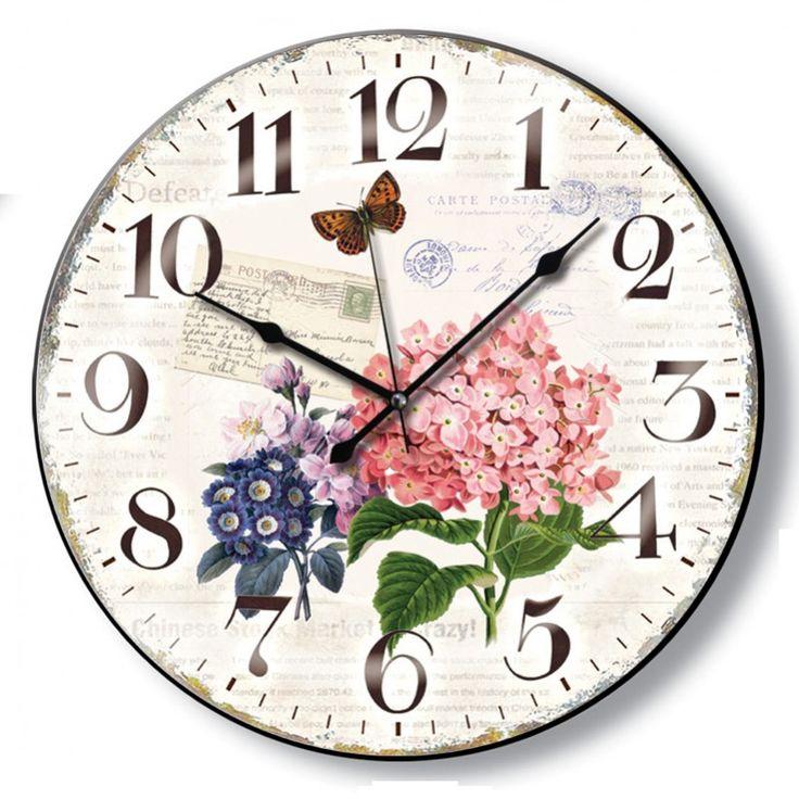 Yuvarlak Antik Çiçekli Duvar Saati, Yuvarlak Antik Çiçekli Duvar SaatiÜrün Bilgisi ;Ürün maddesi : Gövdesi : Plastik, bombeli gerçek camEbat : 48cmBüyük boyMekanizması : Akar saniye