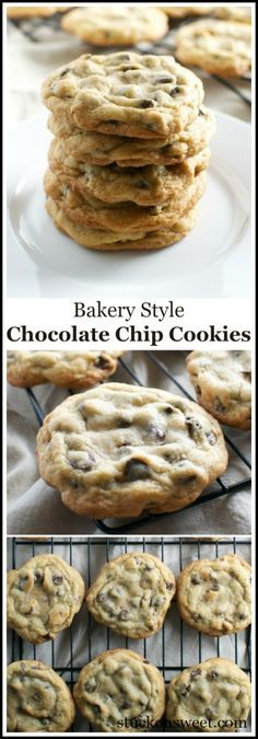Bakery Style Chocolate Chip Cookies. These are the best cookies ever! | stuckonsweet.com
