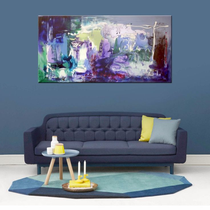 Rectangular abstract canvas paintings for sale UK