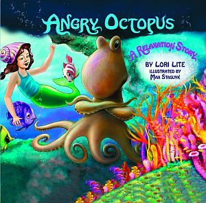 """Angry Octopus book for iOS: """"The angry octopus in this children's story learns how to take deep breaths and calm down to manage his fiery emotions."""" From LD News newsletter. $7.99"""