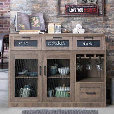 Furniture of America Wenoga Industrial Multi Storage BuffetServer