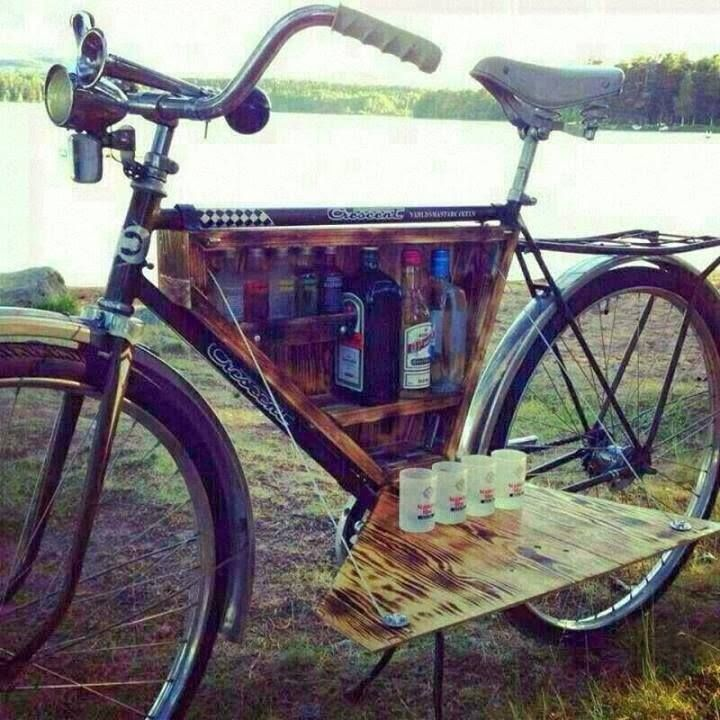 cocktail bar bike. This is the bike that I want.