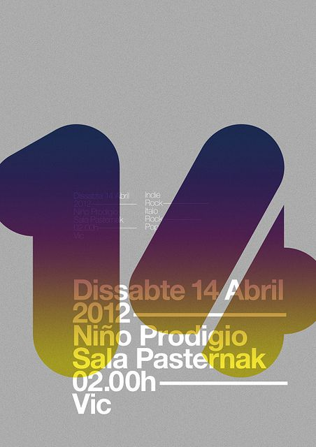 #Typography themed poster for an event on April 14th 2012. Does the 14 overlayed in that color make it hard to read? Love the general idea.