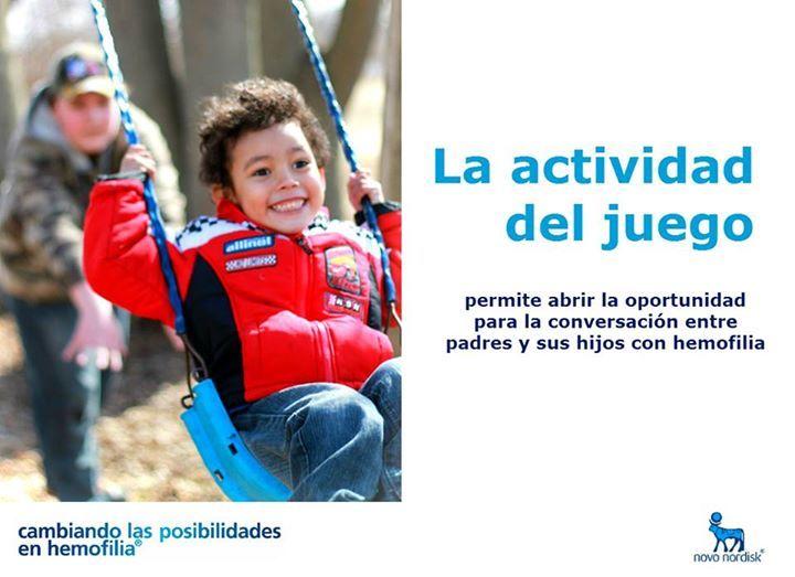 La actividad del juego permite abrir la oportunidad para la conversación entre padres y sus hijos con #hemofilia