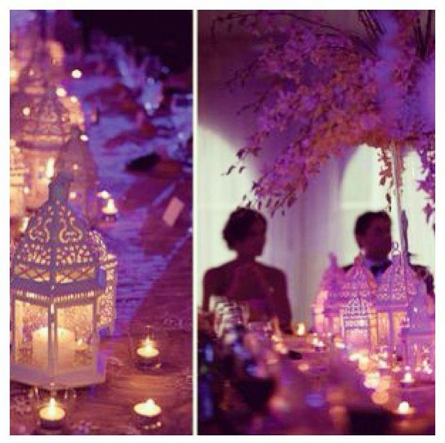 Haal de sfeer van Dubai naar je huwelijk hier, lantarens als geweldige tafelstukken!