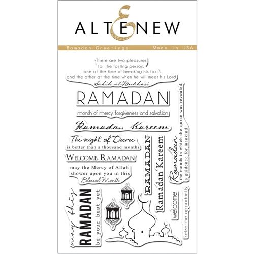 Altenew RAMADAN GREETINGS Clear Stamp Set AN120 Preview Image