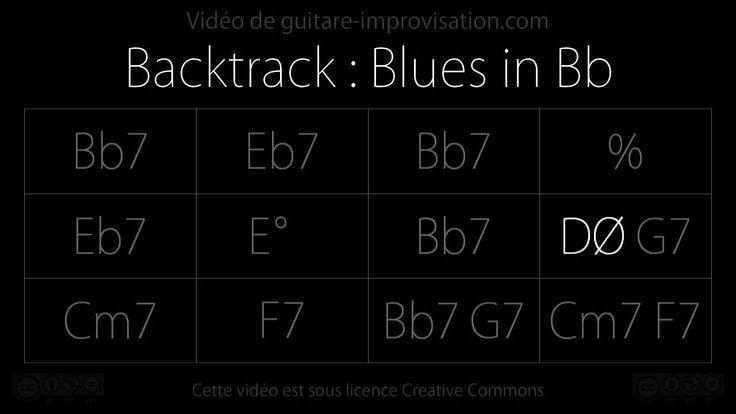 Bb Blues (160bpm) Backing track Backing tracks, Music