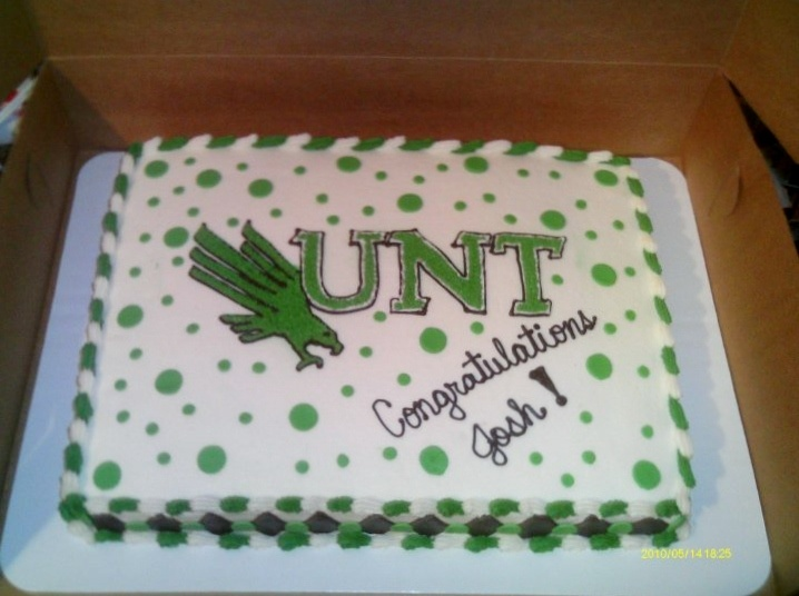 UNT, University of North Texas cake