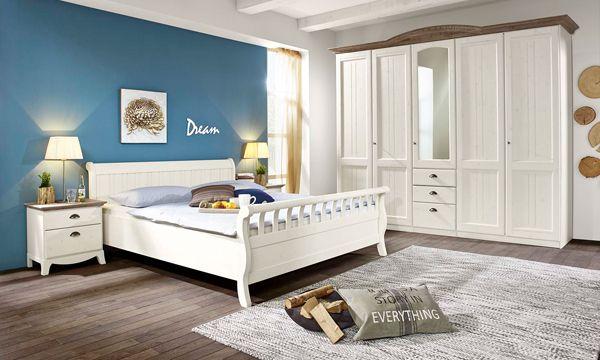 Romantische slaapkamer van massief hout in whitewash de slaapkamer veneto bij nico van de nes - Meisje romantische stijl slaapkamer ...
