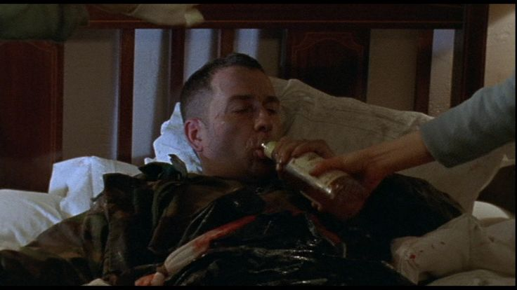 """""""Are you sure he should be chasing painkillers with whisky?"""" Sean Pertwee in Dog Soldiers."""