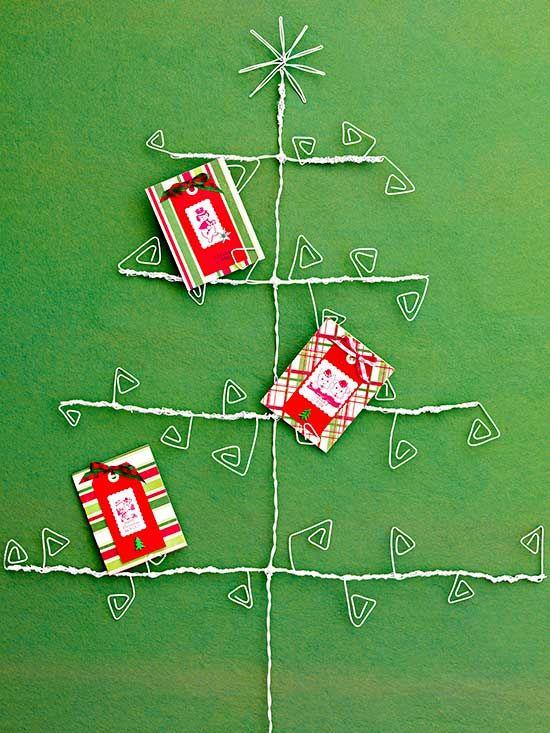 24 DIY Christmas Card Display Ideas Holiday decoration Pinterest