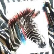 z-zebra drawing by manuela lai