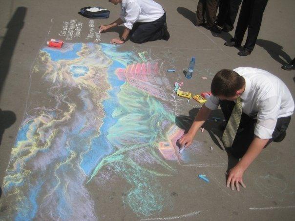 Chalk Art and Mormon Missionaries in Russia! | Seth Adam Smith