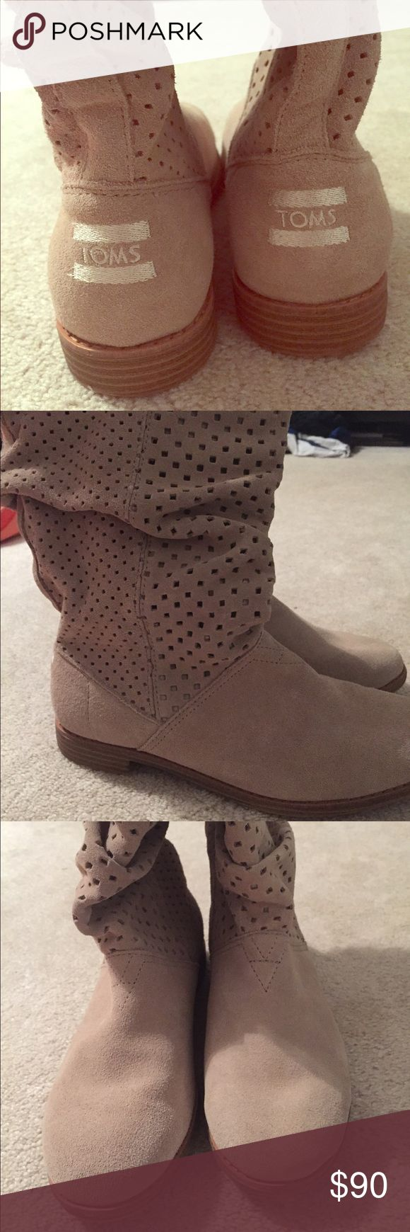 TOMS boots Perfect condition. Never worn. Size 9 women's. TOMS Shoes Heeled Boots