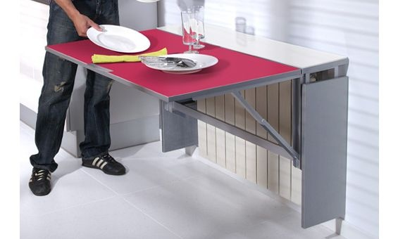 Mesa de cocina cubre radiador Single Radia, con encimera de cristal. Distintos acabados.
