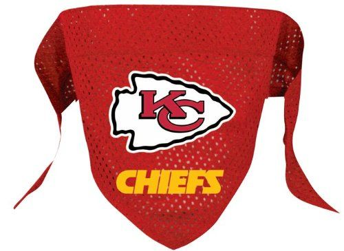 Kansas City Chiefs Pet Dog Football Jersey Bandana S/M - http://www.thepuppy.org/kansas-city-chiefs-pet-dog-football-jersey-bandana-sm/