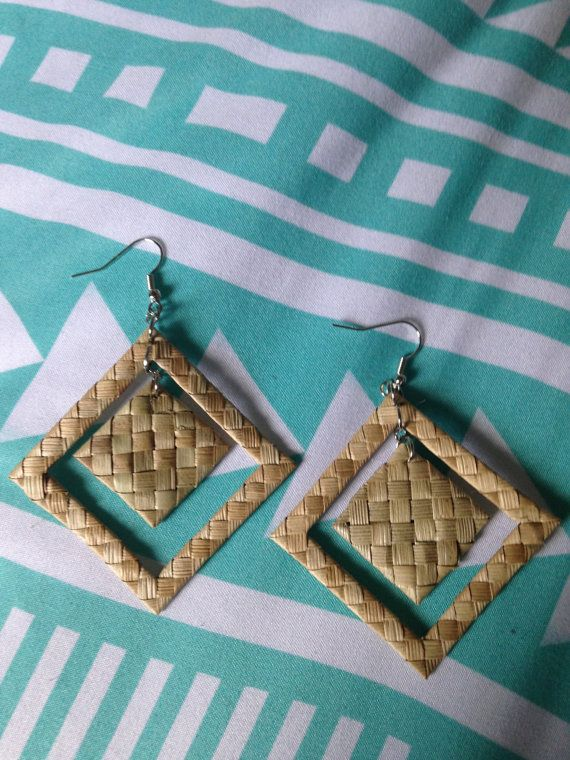 CONSTANCE Lauhala Earrings by LauhalaLove on Etsy