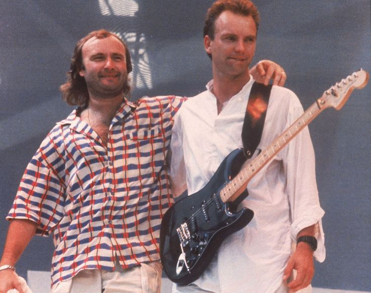 Phil Collins and Sting (Ap)