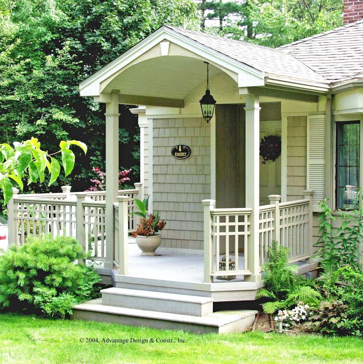 Exterior Beautiful Small House Front Porch Design