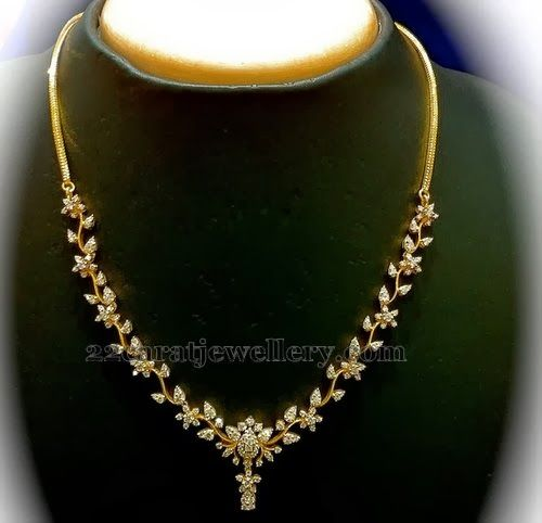 Diamond Necklace Range 1 to 2lakh - Jewellery Designs